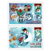 Vietnam 2020 COVID-19 Set Of 2 Maxim Cards - Vietnam