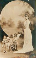 Artiste Reutlinger  - 3 Fillettes Anges Femme    N 2640 - Anges