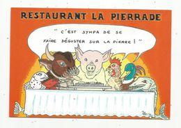 Cp, Illustrateur , Signée Et Dédicacée Hamm , Restaurant LA PIERRADE , 67 , STRASBOURG , Vierge , Tirage 4000 Ex. - Hamm