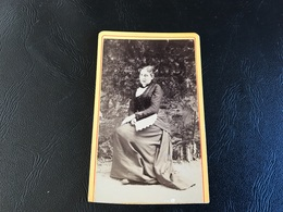 CDV PHOTO Dame En Robe Noire - Old (before 1900)