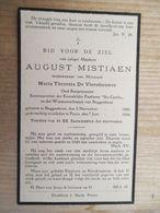 Buggenhout Puurs Oud Burgemeester August Mistiaen 1850 1936 - Images Religieuses