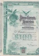 1905 - ACTIONS TITRES - BANCO CENTRAL MEXICANO - 1905 MEXICO MEXIQUE - Bank & Insurance