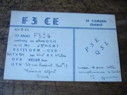 1950 Maisons Alfort Le Canard Edente F3ce  Carte Qsl Radio Amateur  Timbre Vignette - Radio Amatoriale