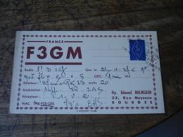 1937 Bourges Edmond Holmgren F3gm Carte Qsl Radio Amateur  Timbre Vignette - Radio Amatoriale