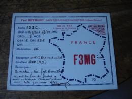 1936 Saint Julien En Genvois Paul Bomond F3mg   Carte Qsl Radio Amateur - Radio Amatoriale