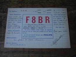 1936 Maisons Alfort Marcel Chambellon F8br  Carte Qsl Radio Amateur - Radio Amatoriale