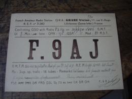 1947 Lillebonne Grare Victor Lillebonne F9aj   Carte Qsl Radio Amateur - Radio Amatoriale