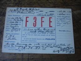 1936 Saint Maure Pariset F3ff    Carte Qsl Radio Amateur - Radio Amatoriale