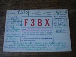 1937 Sete Michel Perales F3bx  Carte Qsl Radio Amateur  Timbre Vignette - Radio Amatoriale