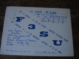 1938 Deauville Generat F3su  Carte Qsl Radio Amateur  Timbre Vignette - Radio Amateur