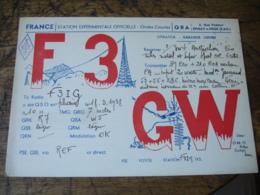 1938 Epinay Sur Orge Cailloux F3gw  Carte Qsl Radio Amateur  Timbre Vignette - Radio Amatoriale