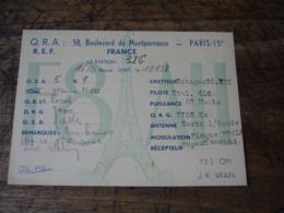 1938 Bld Montmartre F8ah  Carte Qsl Radio Amateur  Timbre Vignette - Radio Amatoriale