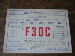 1935 F3dc   Carte Qsl Radio Amateur  Timbre Vignette - Radio Amatoriale