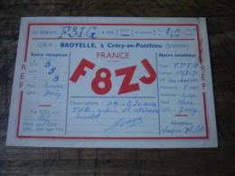 1936 Crecy En Ponthieu Broyelle F8zj  Carte Qsl Radio Amateur  Timbre Vignette - Radio Amatoriale