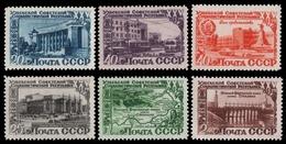 Russia / Sowjetunion 1950 - Mi-Nr. 1432-1437 ** - MNH - Usbekische SSR - 1923-1991 USSR