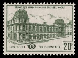 Belgien Postpaket 1959 - Mi-Nr. 52 ** - MNH - Bahnhof - Timbres