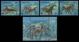 Kiribati 1998 - Mi-Nr. 771-774 & Block 33 ** - MNH - Languste / Lobster - Kiribati (1979-...)