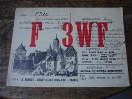 1947 Mignot Arnay Le Duc  Carte Qsl Radio Amateur  Timbre Vignette - Radio Amatoriale