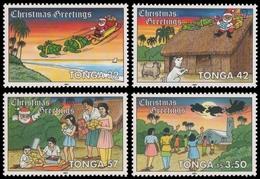 Tonga 1991 - Mi-Nr. 1192-1195 ** - MNH - Weihnachten / X-mas - Tonga (1970-...)