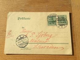 K5 Deutsches Reich Ganzsache Stationery Entier Postal P 64X Von Stralsund Nach Malmö - Ganzsachen