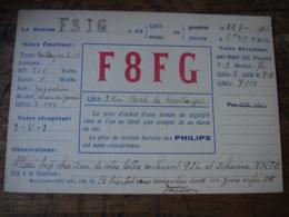 1936 Montargis F8fg   Carte Qsl Radio Amateur - Radio Amatoriale