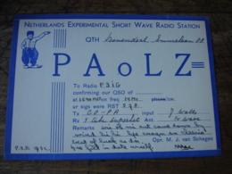 Nederland Holland Pa0lz  Carte Qsl Radio Amateur - Radio Amatoriale