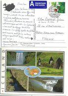 YT 1035 - Fraise - Fruit - Baie - Lettre De Stykkisholmur Pour La France - Covers & Documents