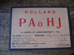Nederland Holland 137 Rotterdam Jansen Paohj  Carte Qsl Radio Amateur  Vignette Timbre - Radio Amatoriale