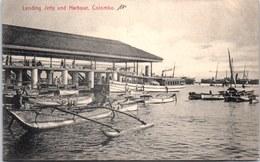 CEYLAN - COLOMBO - Landing Jetty And Harbour - Sri Lanka (Ceylon)