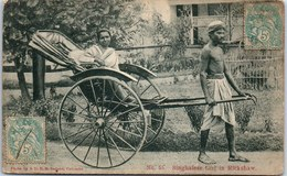 INDE - Singhalese Girl In Rickshaw - India
