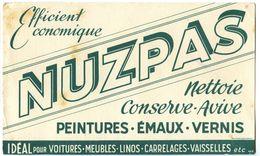 Buvard 21 X 12.4 NUZPAS  Nettoyant Des Peintures émaux Vernis   Pour Voiture  Meubles Linos Carrelages Vaisselles - Waschen & Putzen