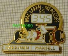 F1 95 1995 MACLAREN MERCEDES    HAKKINEN   MANSELL  MCLAREN  Chrono Fond Noir   En Version ZAMAC - F1