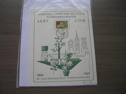 """BELG.1969 1502 FDC (Gent) :  """"85 Jaar Syndicale Kamer Der Belg.tuinbouwkundigen"""" - FDC"""