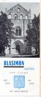Blasimon (33 Gironde).. Dépliant 3 Volets (PPP22970) - Reiseprospekte