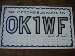 Ceskolovensko  Ok1wf   Carte Qsl Radio Amateur - Radio Amateur