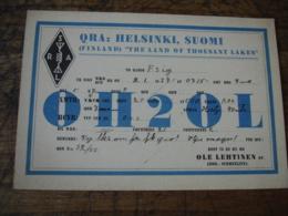 1937 Suomi Helsinki Ole Lethinen Oh2ol Carte Qsl Radio Amateur - Radio Amateur