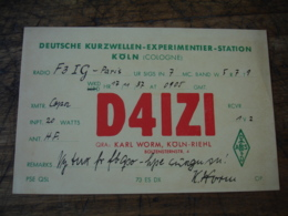 1937 Koln Daizi Carte Qsl Radio Amateur - Radio Amateur