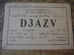 945  Kiel Otto Schoenemann D 3azv Carte Qsl Radio Amateur - Radio Amateur
