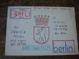 Berlin Doefu  Carte Artisanale Carte Qsl Radio Amateur - Radio Amateur