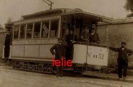 PHOTO : Orleans,Tramway De SAINT-LOUP Ligne Fbg St-Jean-Martroi-St Loup,  Reproduction, 2 Scans - Trains