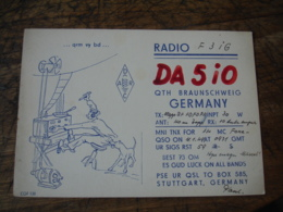 1949 Braunschweig Da5io Qsl Radio Amateur - Radio Amateur