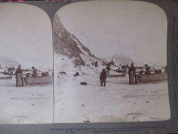 PHOTO STEREO ARCTIQUE - ESQUIMAUX - 1902 -  Underwood    BE - Stereoscopio