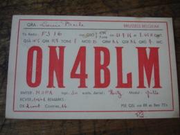 1936 Bruxelles Louis Becle On4blm Belgique Carte Qsl Radio Amateur - Radio Amateur