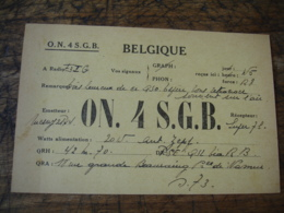 Belgique On4sgb Carte Qsl Radio Amateur - Radio Amateur