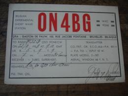 1938 Bruxelles Gaston De Pauw On 4 Bg    Carte Qsl Radio Amateur - Radio Amateur