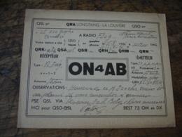 1936 La Louviere On4ab   Carte Qsl Radio Amateur - Radio Amateur