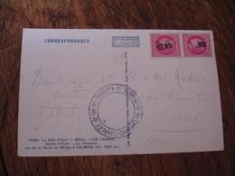Sens Griffe Marque Lineaire Obliteration De Fortune Sur Lettre - 1921-1960: Modern Period