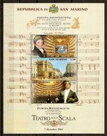 """(Fb).San Marino.2004.""""Teatro Alla Scala"""".Foglietto Nuovo,integro (112-20) - Blocchi & Foglietti"""
