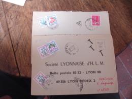 Lot De 8 Lettre Taxee Timbre Fleur Fleurs - Postage Due Covers