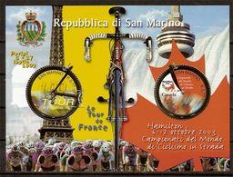 """(Fb).San Marino.2003.""""Ciclismo"""".Foglietto Nuovo,integro (113-20) - Blocchi & Foglietti"""
